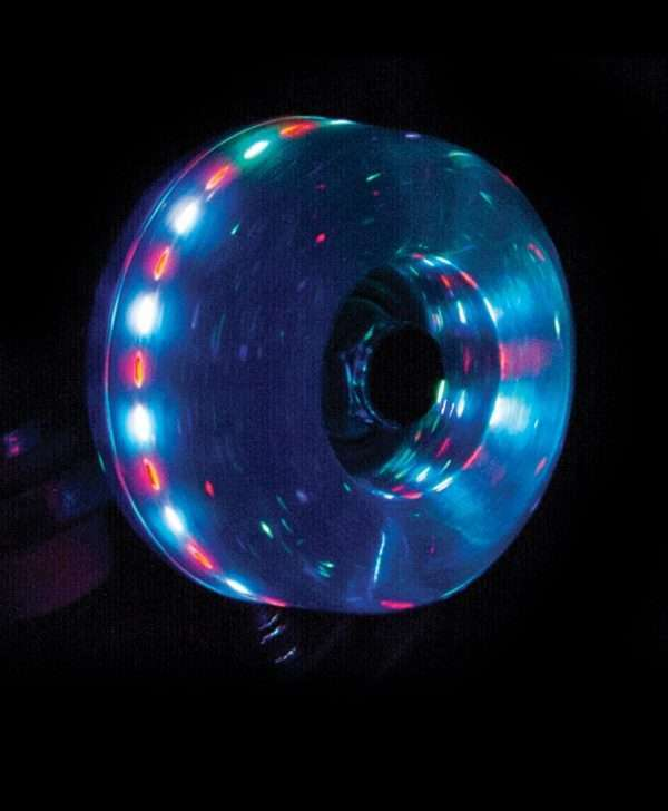 RIO535 Rio Roller Light Up Wheels Blue Glitter Detail.jpg