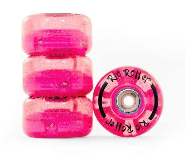 RIO535 Rio Roller Light Up Wheels Pink Glitter Main.jpg