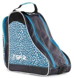 BAG350 SFR Designer Ice and Skate Bag Blue Leopard Main.jpg